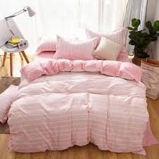 pink cute style bedding set duvet cover flat bed sheet pillowcase 3 twin full queen king size ab side bedding set bedding king size duvet cover