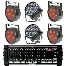 led stage lighting kit with 4 rgb stage wash led lights 2 rgbw spotlights