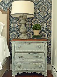 Antique Night Stands Give Plain Nightstands Rustic Charm With Milk Paint Hgtv