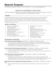 Quality Control Manager Resume Template Samples Assurance Examples ...