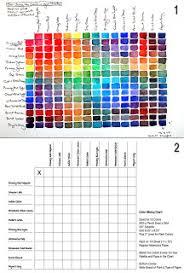 Watercolor Palette Chart The Ritas Art Blog Tuesdays Tips Techniques For