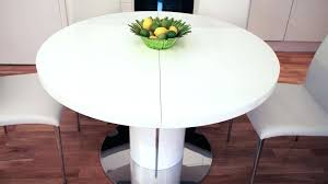 white round table set round extendable dining table design all white table setting wedding