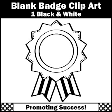 Blank Reward Badge Award Clip Art Black And White Sps By Promoting