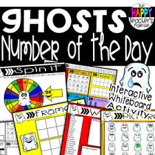 Interactive Number Flip Chart Number Of The Day Ghosts Interactive Promethean Board Flipchart Printables
