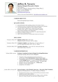 Interior Design Resume Samples Psoriasisguru Com