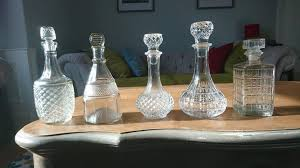 cut glass wine decanters vintage wedding