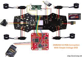 zmr250 v2 build log mini quad pdb oscar liang zmr250 pdb connection diagram simple osd voltaged