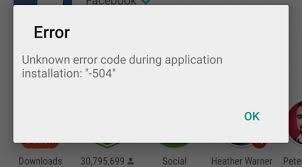 پیغام خطای 504 یا Error 504 در گوگل پلی استور