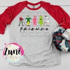 Next Level Raglan Shirt Size Chart Friends Christmas Raglan Boutique