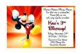 Mouse Birthday Invitation Templates Free Mickey Template
