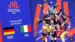 ถ่ายทอดสด วอลเลย์บอลหญิง เนชันส์ลีก 2021 เยอรมนี vs อิตาลี Full HD