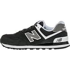 new balance 574 black. new balance 574 (mens) - black/white black