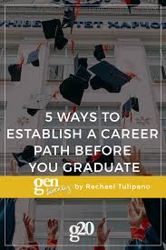 5 Ways To Establish A Career Path Before Graduation Gentwenty