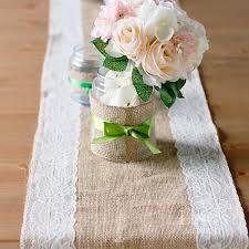 burlap table runner diy ideas burlap with lace