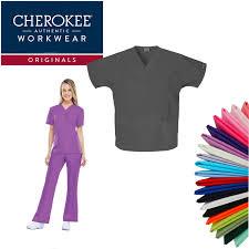 Cherokee Workwear Originals Womens Scrubs Tops