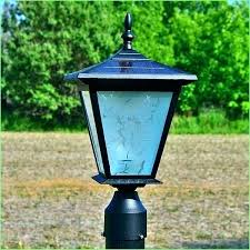 rustic deck post lights solar outdoor light lighting driveway gate red shed lamp