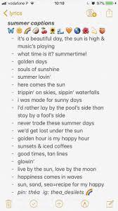 Summer Captions Quotes Insta Captions Instagram Quotes