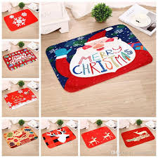 red home decorations indoor outdoor doormat cartoon kids room carpet festival deer snowflake rugs for kitchen bathroom industrial carpet broadloom