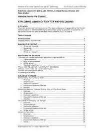 concept of identity and belonging essays assignment sample papers concept of identity and belonging essays