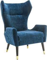 Samt Stühlen Runde Samt Stuhl Navy Velvet Club Sessel Samt