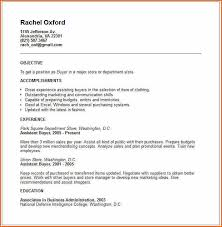 is the resume example for applying for the post of Buyer. This resume .