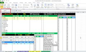 Cricket Score Card Format Excel Scorebook Integration Optional Build Your Own