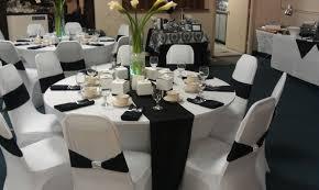 white and black wedding theme