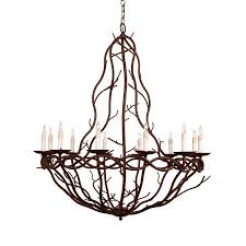 arteriors home 12 light durango rust chandelier
