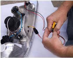 how to install raxiom chrome projector headlights halo on your 1994 Mustang Headlight Wiring Diagram 2 using wire strippers, carefully strip about ½\u201d of wire about 3\u201d from the small black voltage regulator module that feeds the halo led 1994 mustang headlight switch wiring diagram