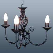classic 3 arm black ceiling light cla3b