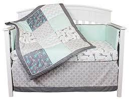 uptown giraffe 5 piece baby bedding set