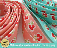 How to Make Your Own Continuous Bias Binding | Sew4Home & How to Make Your Own Continuous Bias Binding Adamdwight.com