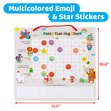 How To Make A Reward Chart For Potty Training Putska Potty Training Magnetic Reward Chart For Toddlers Reward Chart With Multicolored Emoji Star