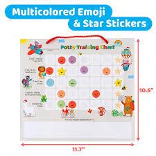 Putska Potty Training Magnetic Reward Chart For Toddlers Reward Chart With Multicolored Emoji Star
