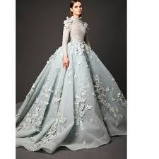 Elie Saab Dresses Long Sleeves Evening Dresses A Line High Neck
