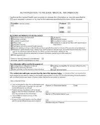 Generic Medical Records Release Form Example Of Request Nj Sample ...