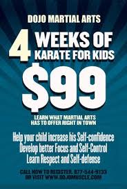 Kids Karate Special Offer Flyer