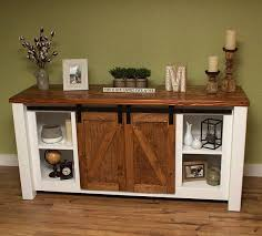 barn door entertainment console tv stand a hutch cabinet entry table