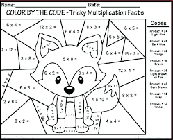 Winter Addition Color By Number Worksheets Multiplication Color By ...