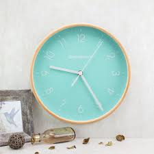 8 inch wall clock wooden home round og clock quartz silent sweep movement uk
