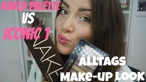 alls makeup palette vs makeup revolution iconic 1 einfacher makeup look
