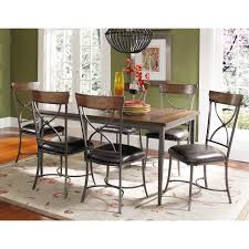 Hillsdale Dining Table Hillsdale Cameron 7 Piece Rectangle Wood And Metal Dining Table