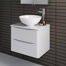 600mm wall hung bathroom storage vanity unit countertop basin sink mv2617t