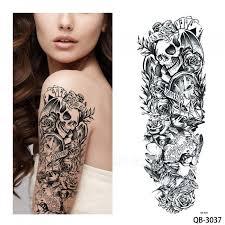 Nový Jedinečný Mníška Dívka Modlit Se Design Plné Květinové Rameno Tělo Umění Beckham Velké Velké Falešné Dočasné Tetování Nálepka