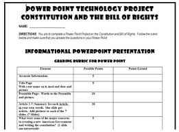bill of rights ppt constitution and bill of rights power point project with rubric tpt
