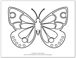 Make this butterfly coloring page the best! Butterfly Coloring Pages Free Printable Butterflies One Little Project