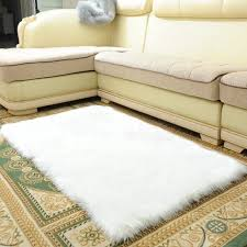 the ping soft artificial long wool faux sheepskin living room carpet fluffy bedroom sofa white rug