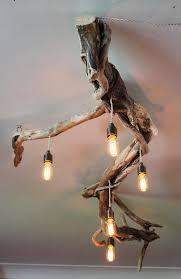 driftwood lighting. driftwood chandeliervinatge filament bulbsvintage filamnet pendant chandelier five light fitting lighting