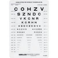 Faa Near Vision Acuity Chart Good Lite Sloan Letter Near Card Medex Supply