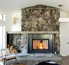 indoor stone fireplace rock fireplace ideas how